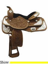 "14"" to 16"" Royal King Seven Oaks Silver Show Saddle 851"