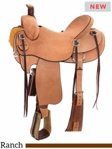 "** SALE ** 14"" to 16.5"" Reinsman Association Ranch Saddle 4616 w/Free Pad"