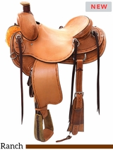 "** SALE ** 14"" to 16.5"" Reinsman Association Ranch Saddle 4617 w/Free Pad"