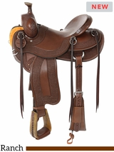 "** SALE ** 14"" to 16.5"" Reinsman Association Ranch Saddle 4619 w/Free Pad"