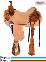 "** SALE ** 14"" to 16.5"" Reinsman Ranch Roper Saddle 4615 w/Free Pad"