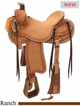 "** SALE ** 14"" to 16.5"" Reinsman Will James Association Ranch Saddle 4618 w/Free Pad"