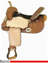 "** SALE ** 14"" to 16"" Billy Cook Runnin Tres Aces Barrel Saddle 291209"