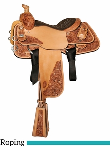 "14"" to 16"" Circle Y Mike Johnson Sportline Calf Roper 1505 w/Free Pad"