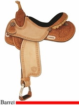 "14"" to 16"" Tex Tan Star Racer Barrel Saddle 292200"
