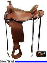 "14"" to 17"" Circle Y Birdseye Flex2 Trail Saddle 1670 w/Free Pad"