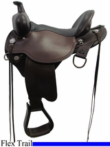 "14"" to 17"" Circle Y Black Mesa Flex2 Trail Saddle 2378"
