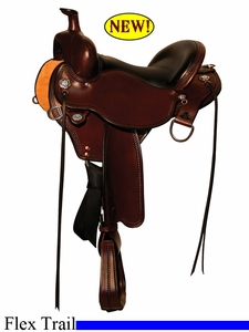 "14"" to 17"" Circle Y Black Mesa Flex2 Trail Saddle 2378 *free gift*"