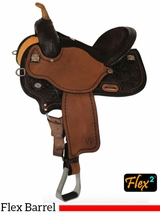 "** SALE ** 14"" to 17"" Circle Y Kelly Kaminski KK Faith Flex2 Barrel Racer 1524 w/Free Pad"