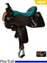 "** SALE ** 14"" to 17"" Circle Y Limited Edition Trail Saddle CY16 w/ Free Pad"