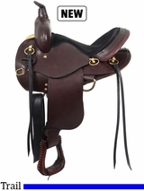 "14"" to 17"" The Elkhart Eagle Trail Saddle by South Bend Saddle Co."