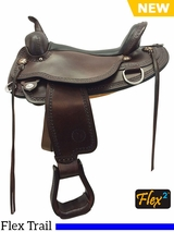 "** SALE ** 14"" to 18"" Circle Y Copper Mine Flex2 Trail Saddle 1565 w/ Free Pad"