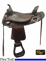 "14"" to 18"" Circle Y Copper Mine Flex2 Trail Saddle 1565 w/ Free Pad"
