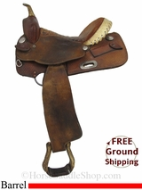 "SOLD 2014/10/20 $625 14"" Used Billy Cook Barrel Racing Saddle, Wide Tree usbi2895 *Free Shipping*"