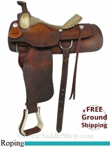 "SOLD 2015/02/24 14"" Used Billy Cook Roping Saddle, Wide Tree usbi2918 *Free Shipping*"