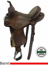 "14"" Used Cactus Saddlery Charmayne James Record Breaker Wide Barrel Racer uscj3710 *Free Shipping*"