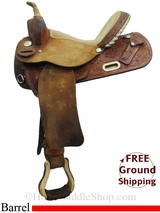"14"" Used Circle Y Barrel Racing Saddle, Wide Tree uscy3079 *Free Shipping*"