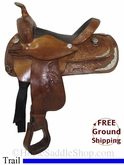 "14"" Used Circle Y Trail Saddle uscy2764 *Free Shipping*"