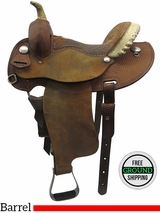 "14"" Used Courts Wide Barrel Saddle usct3389 *Free Shipping*"