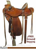 "14"" Used D. Hulbert Saddles Ranch Saddle uscu2831 *Free Shipping*"