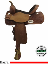 "14"" Used High Horse Wide Barrel Saddle 6212 ushh3479 *Free Shipping*"