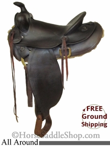 "PRICE REDUCED! 14"" Used JC Higgins All Around Saddle usjh2587 *Free Shipping*"