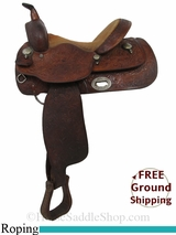 """14"""" Used Long Horn Roping Saddle, Wide Tree uslh2932 *Free Shipping*"""