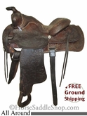 "PRICE REDUCED! 14"" Used Ryon All Around Saddle, Wide Tree usry2586 *Free Shipping*"