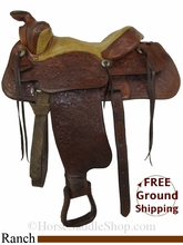 """PRICE REDUCED! 14"""" Used Tex Tan Ranch Saddle ustt2825 *Free Shipping*"""