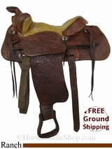 "PRICE REDUCED! 14"" Used Tex Tan Ranch Saddle ustt2825 *Free Shipping*"