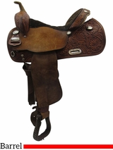 "14"" Used Tex Tan Wide Barrel Saddle 08-845NA4, ustt3425 *Free Shipping*"