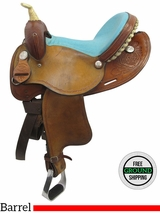 "14"" Used VH Saddlery Circle M Wide Barrel Saddle 300 uscm3520 *Free Shipping*"