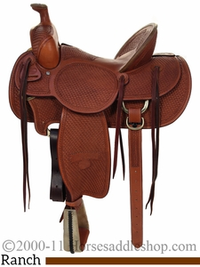 """15.5"""" to 17"""" Billy Cook High Country Rancher Saddle 2175"""
