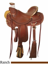 "15"" to 17"" Circle Y Elko Ranch Saddle 1343 w/Free Pad"