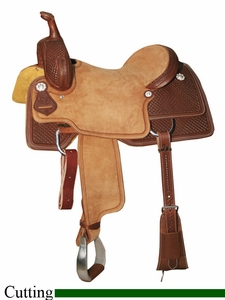 "** SALE **15"" to 17"" Circle Y Xtreme Performance Weatherford Cutting Saddle 2541 *free gift*"