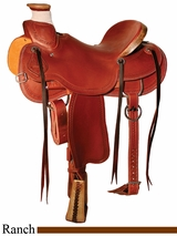 "15"" to 17"" Circle Y Lone Tree Ranch Saddle 1344"