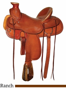 "15"" to 17"" Circle Y Lone Tree Ranch Saddle 1344 w/Free Pad"
