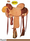 "15"" 15.5"" 16"" 16.5"" 17"" Reinsman Association Ranch Saddle, Reg or Wide Tree 4603"