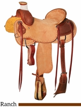 "** SALE ** 15.5"" to 17"" Reinsman Association Ranch Saddle 4603"