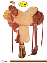 "15"" 15.5"" 16"" 16.5"" 17"" Reinsman Association Ranch Saddle, Reg or Wide Tree 4605"