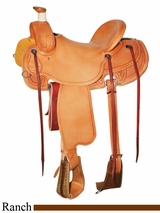"15.5"" to 17"" Reinsman Ranch Saddle 4601"