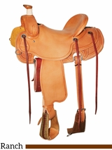 "** SALE ** 15.5"" to 17"" Reinsman Ranch Saddle 4601"