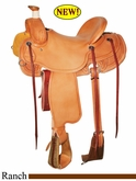 "15"" 15.5"" 16"" 16.5"" 17"" Reinsman Colt Ranch Saddle, Reg or Wide Tree 4601"