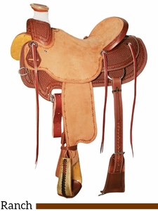 "** SALE ** 15"" to 17"" Reinsman Wade Ranch Saddle 4602"