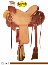 "15"" 15.5"" 16"" 16.5"" 17"" Reinsman Wade Ranch Saddle, Reg or Wide Tree 4602"