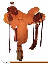 "** SALE ** 15"" to 17"" Circle Y XP Wheelock Ranch Saddle 1117 w/Free Pad"