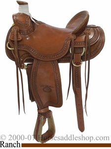 15inch 15.5inch 16inch Arbuckle Wade Ranch Saddle by Billy Cook FQHB 2182