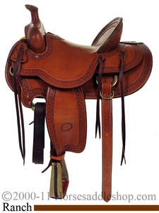 15inch to 17inch Ranch Saddle - High Country Rancher by Billy Cook
