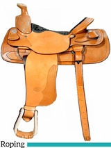 "** SALE ** 15"" to 18"" Billy Cook Team Roper Saddle 2082"