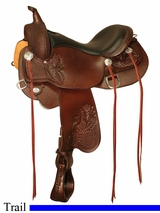 "** SALE **15"" to 18"" Circle Y Calico All-Around Trail Saddle 2602 *free gift*"